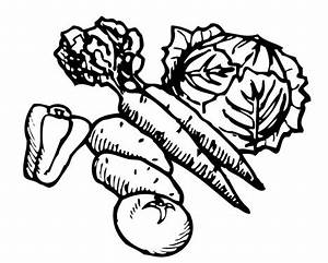 Vegetable Black And White Clipart