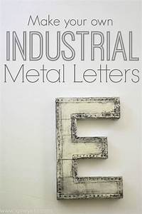 diy industrial marquee letter lovely etc With how to make metal letters