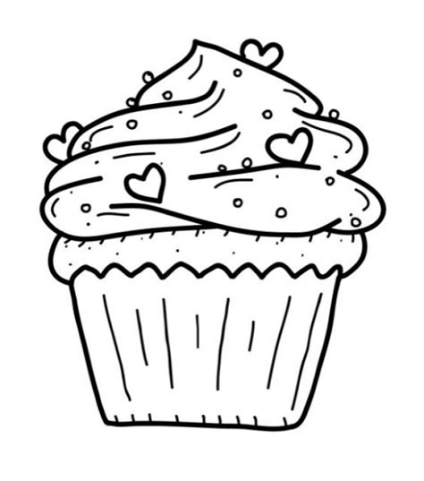 free cupcake coloring page coloring pages cupcake