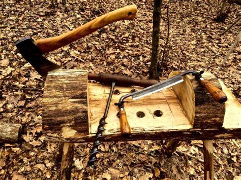 build  carving bench   log rope vise plans