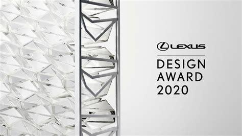 inschrijven voor lexus design award  geopend