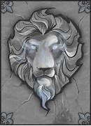 Lion Head Drawi...