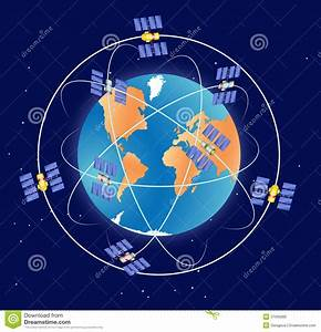 Global Positioning System Gps Stock Vector