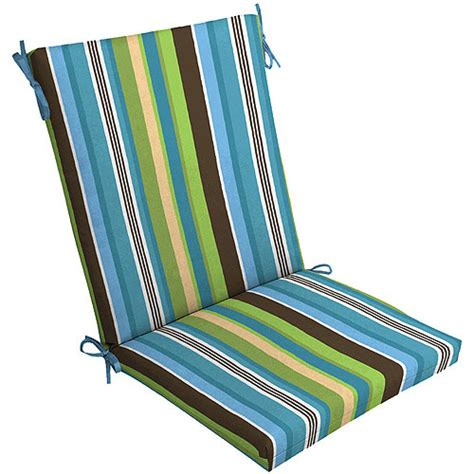 walmart outdoor cushions for chairs mainstays outdoor chair cushion blue stripe walmart