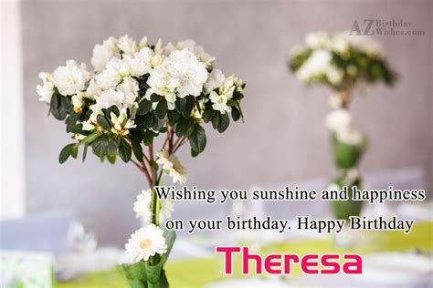 happy birthday theresa