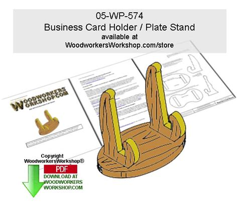wp  business card holder scrollsawing woodworking pattern downloadable