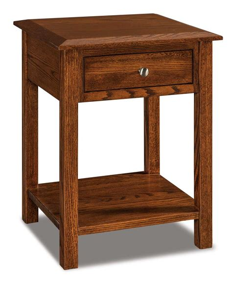 Open Nightstand by Finland 1 Drawer Open Nightstand Amish Direct Furniture