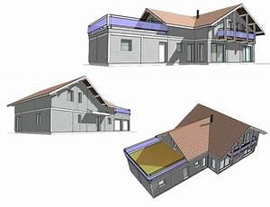 Calcul Surface Toiture 2 Pans : maison avec toit terrasse nos projets maison 2 pans ~ Premium-room.com Idées de Décoration
