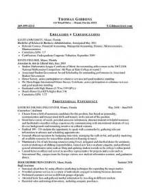 free resume pdf download internship resume exle sle