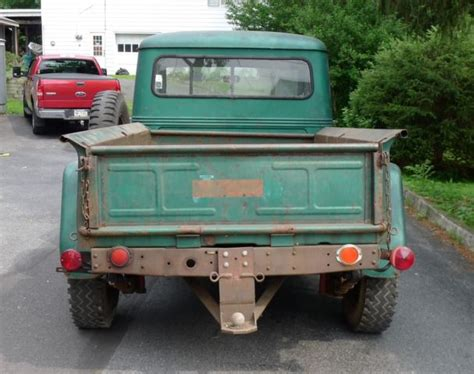 willys jeep truck green 1956 willys pickup with chevy 283 v8 jeep scrambler
