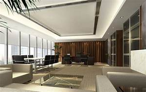 General manager office interior design rendering with for Manager office interior design ideas