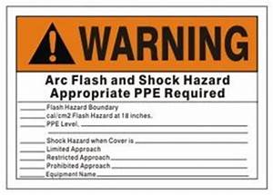 write on arc flash shock labels warning With arc flash and shock hazard labels