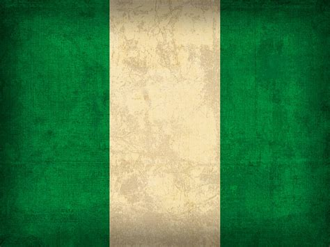 nigeria flag vintage distressed finish mixed media by design turnpike