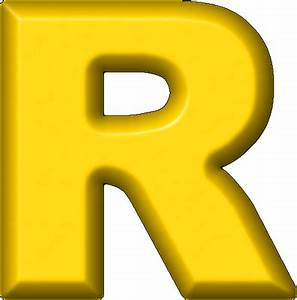 presentation alphabets yellow refrigerator magnet r With big yellow letters