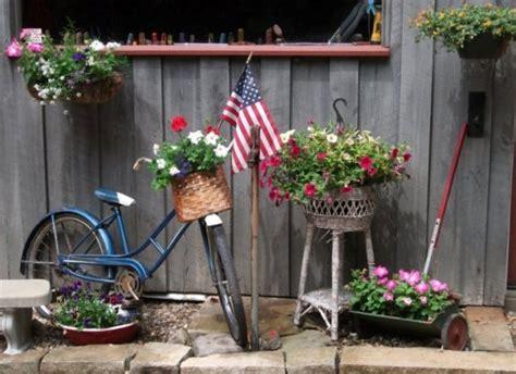 quaint bloomin bicycles   garden flea market