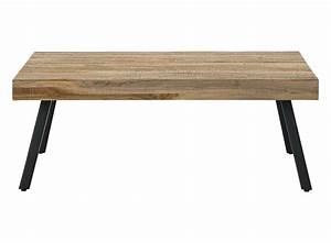 Table Basse Noir : table basse rectangulaire bois metal noir fly ~ Teatrodelosmanantiales.com Idées de Décoration
