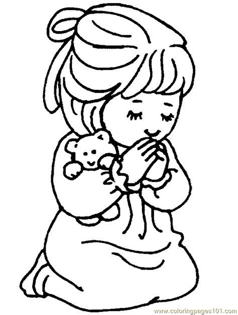 children praying coloring page clipart panda  clipart images