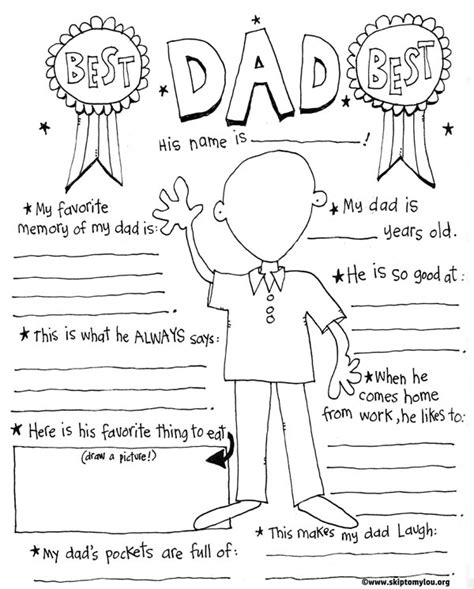 The Best Father's Day Coloring Pages  Skip To My Lou