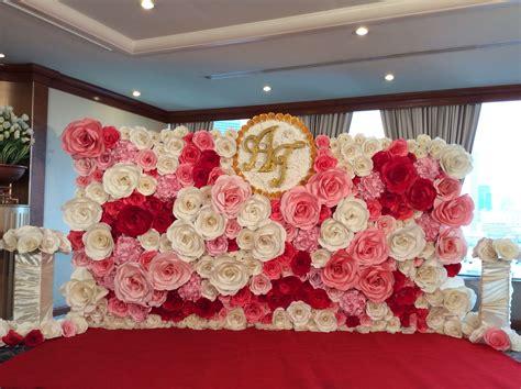 paper backdrop paper flower paper wedding paper flower