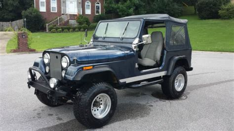 jeep navy blue seller of classic cars 1979 jeep cj navy blue light gray