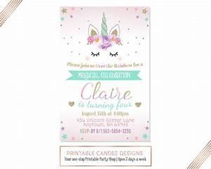 No foto invitación de cumpleaños de unicornio unicornio cumple More Pinterest Invitaciones