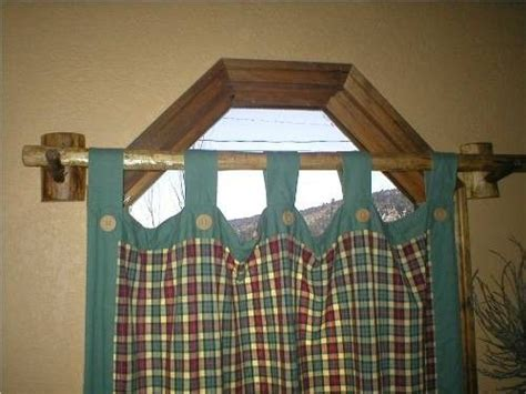 RUSTIC LOG VALANCE CURTAIN ROD COUNTRY CABIN by