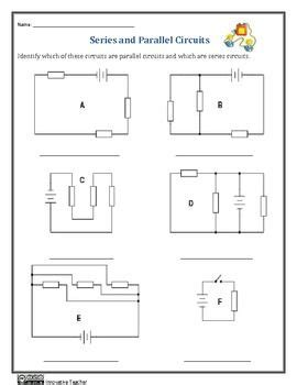 series and parallel circuits worksheets educate pinterest