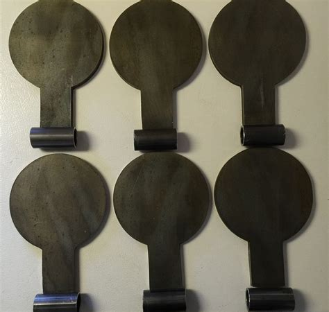 ar dueling paddles steel target  plate kit  bullseye metals   steel targets