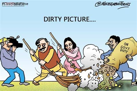 cartoon   day clean india farce news