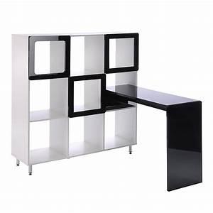 Regal Hochglanz Weiß : regal carlow mit laptoptisch wei hochglanz schwarz ~ Frokenaadalensverden.com Haus und Dekorationen