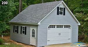 one car two story garage two story prefab garages With 20x20 garage with loft