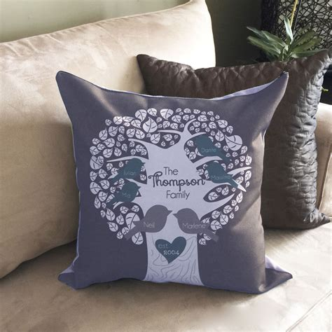personalized family pillow personalized family tree pillow monkey designs
