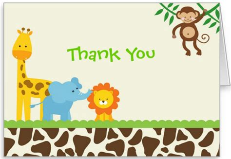 animal thank you card template thank you notes 35 free printable word excel psd eps