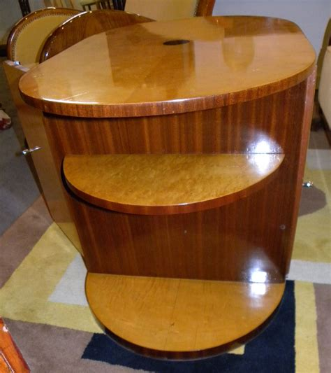oval streamline art deco coffee table  mini bar bars art deco collection
