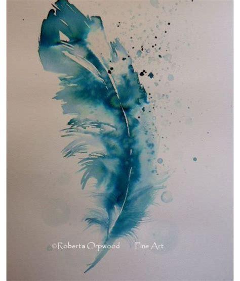 watercolour feather tattoo designs plume aquarelle