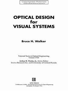 Bruce H  Walker  Optical Design For Visual System
