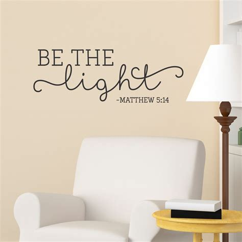 be the light wall quotes decal wallquotes com
