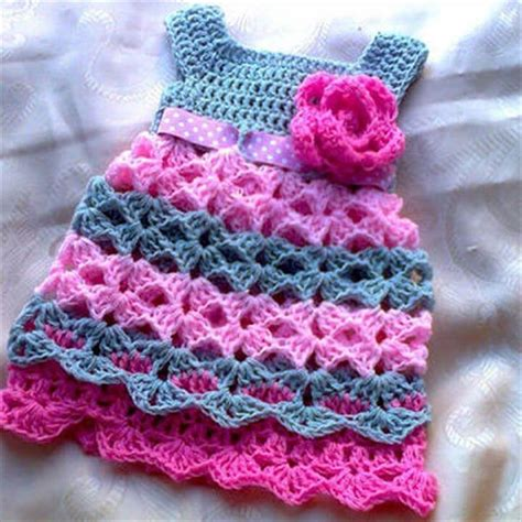 gorgeous crochet baby dress  babies