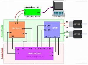 Msp430 Robot Shield Slave Unit For Motor Control Using Rs485