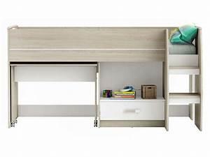 Hauteur Bureau Adulte : lit combin 90x190 cm switch vente de lit enfant conforama ~ Melissatoandfro.com Idées de Décoration