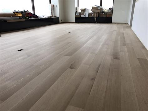 whitewashed hardwood floor white oak  chicago tom