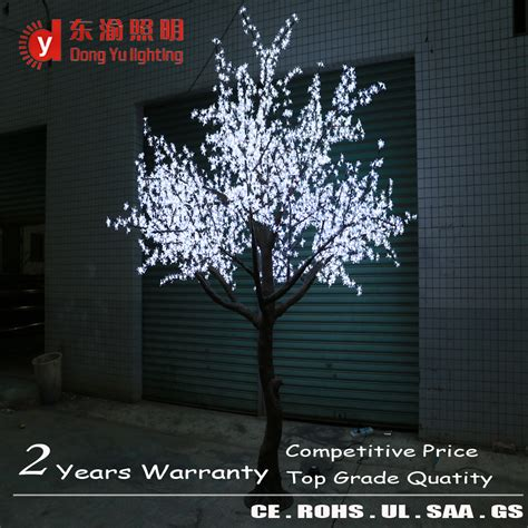 indoor led artificial plant tree white cherry blossom