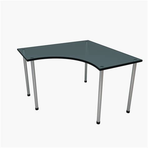 ikea linnmon corner desk dimensions corner desk glass blue 3d 3ds