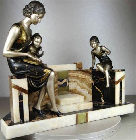 1920 1930 uriano grande sprb statue sculpture deco femme enfant lecture 624 eur