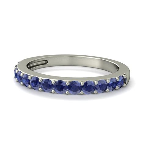 carat sapphire wedding ring band  white gold jeenjewels