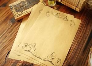 retro style kraft letter paper writing paper 8pcs retro With vintage letter writing paper