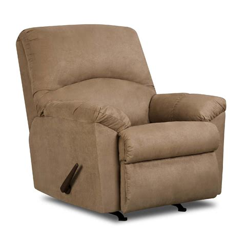 rocker recliners on simmons microfiber rocker carson recliner