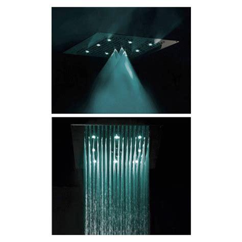 soffione doccia soffitto bossini soffione doccia da soffitto con led a due getti