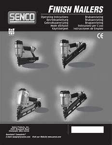 Senco Finishpro 32 Nail Gun Operating Instructions Manual