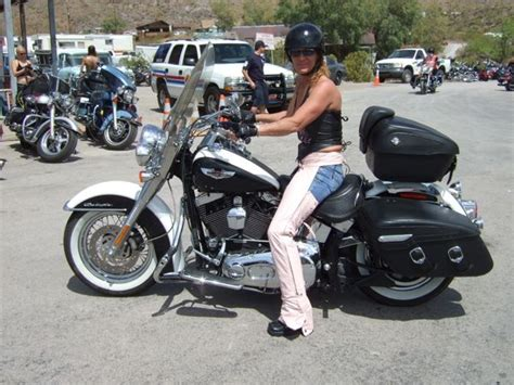 I Caught This Woman Riding A Softail Deluxe In Laughlin